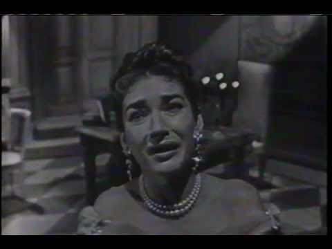 "MARIA CALLAS sings  ""Vissi D'arte""  on November 25, 1956"