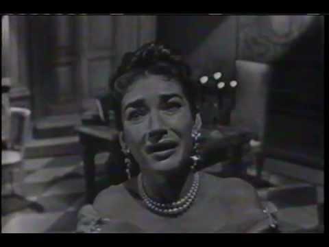 "MARIA CALLAS sings  ""Vissi D'arte""  on November 25, 1956"