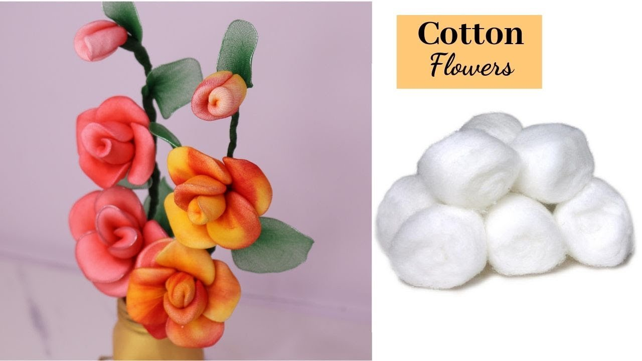 Cotton Flower Making Diy How To Make Cotton Flower Best Out Of