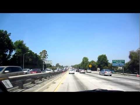Los Angeles Traffic On I-5 Highway - LA County, California - Canon 300 HS