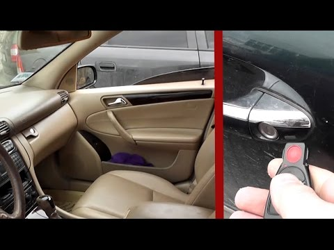 Closing/Opening of all windows with remote control on Mercedes W203 /  Hidden functions Mercedes W203