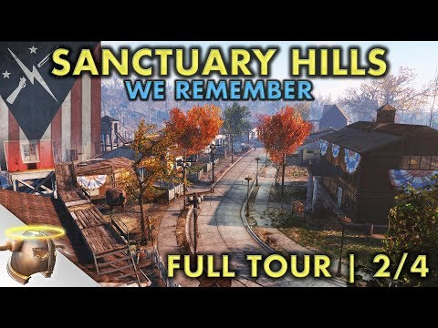 LIFE IN SANCTUARY HILLS | Part 2 - Huge, realistic Fallout 4 settlement and lore