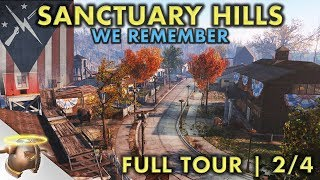 LIFE IN SANCTUARY HILLS   Part 2 - Huge, realistic Fallout 4 settlement and lore