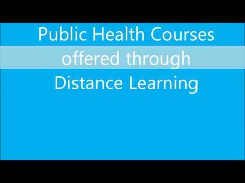 Public Health courses through distance education in India