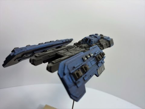 Scratch built styrene sci-fi spaceship - Build 5