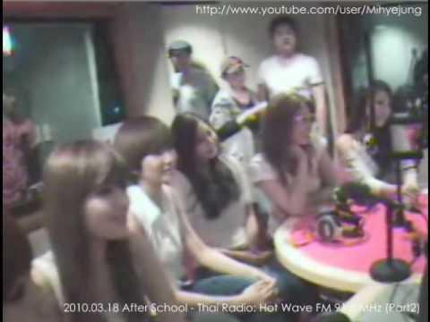 100318 After School & Wheesung - Thai Radio: Hot Wave FM 91.5 MHz (Part 2)