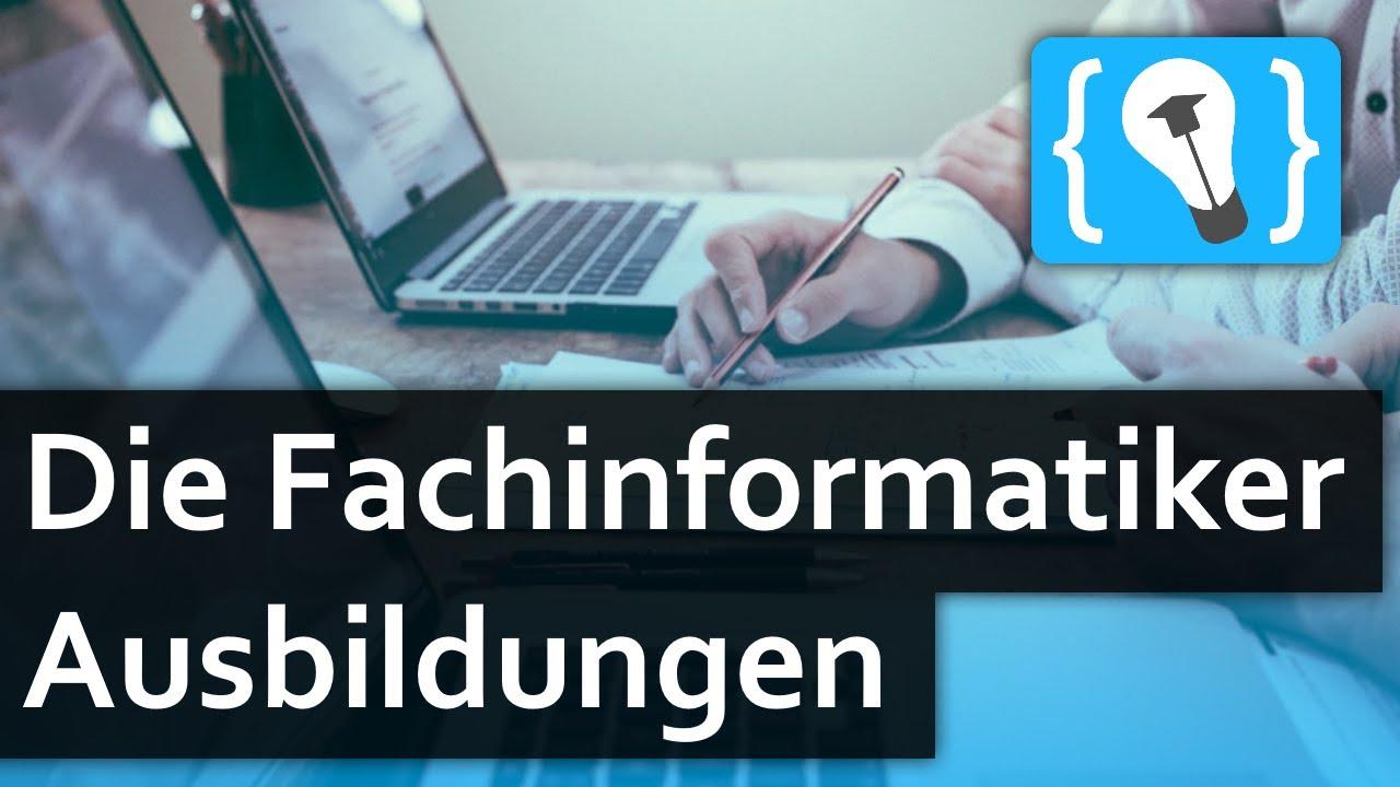Die Fachinformatiker Ausbildungen - Anwendungsentwicklung und Systemintegration!