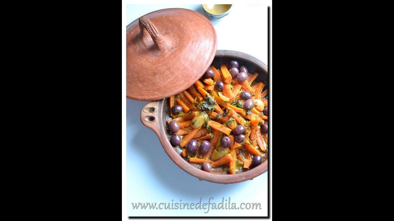 Cuisine marocaine tajine de poulet aux carottes et aux for Video de cuisine youtube