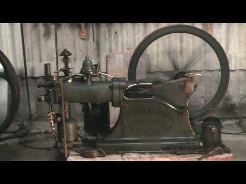 Gas  engine,Crossley Otto, Otto slide valve.