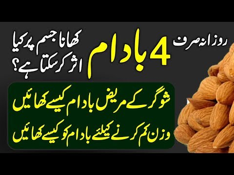 Benefits Of Almonds (Badaam K Fayde) Urdu Hindi | Urdu Lab