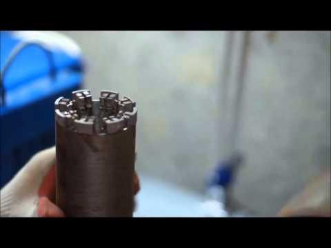 Напайка сегмента на алмазную корону аппаратом ЛИГА-02