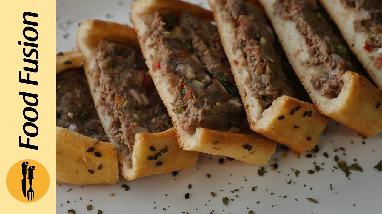 Turkish Pide   2 ways -  Recipe by Food Fusion  (Meat / cheese  Pizza Like Bread)