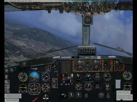 fsx H.A.F canadair cl-215 landing at LGAV Athens.wmv