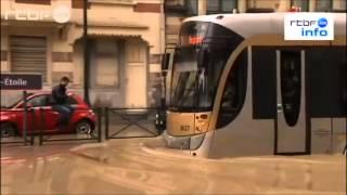 Tram et inondations à Bruxelles (12 juin 2012)