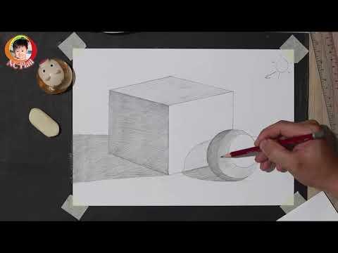 Hướng dẫn vẽ khối hộp và khối cầu/ Mĩ Thuật 6 / NC Plan