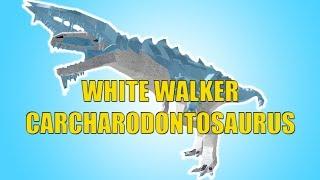 White Walker Carcharodontosaurus Showcase! - Roblox Dinosaur Simulator