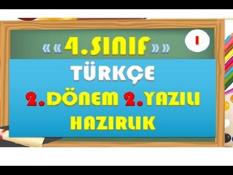 4.Sınıf Türkçe 2.Dönem 2.Yazılı Hazırlık 1-Yardımcı Öğretmen
