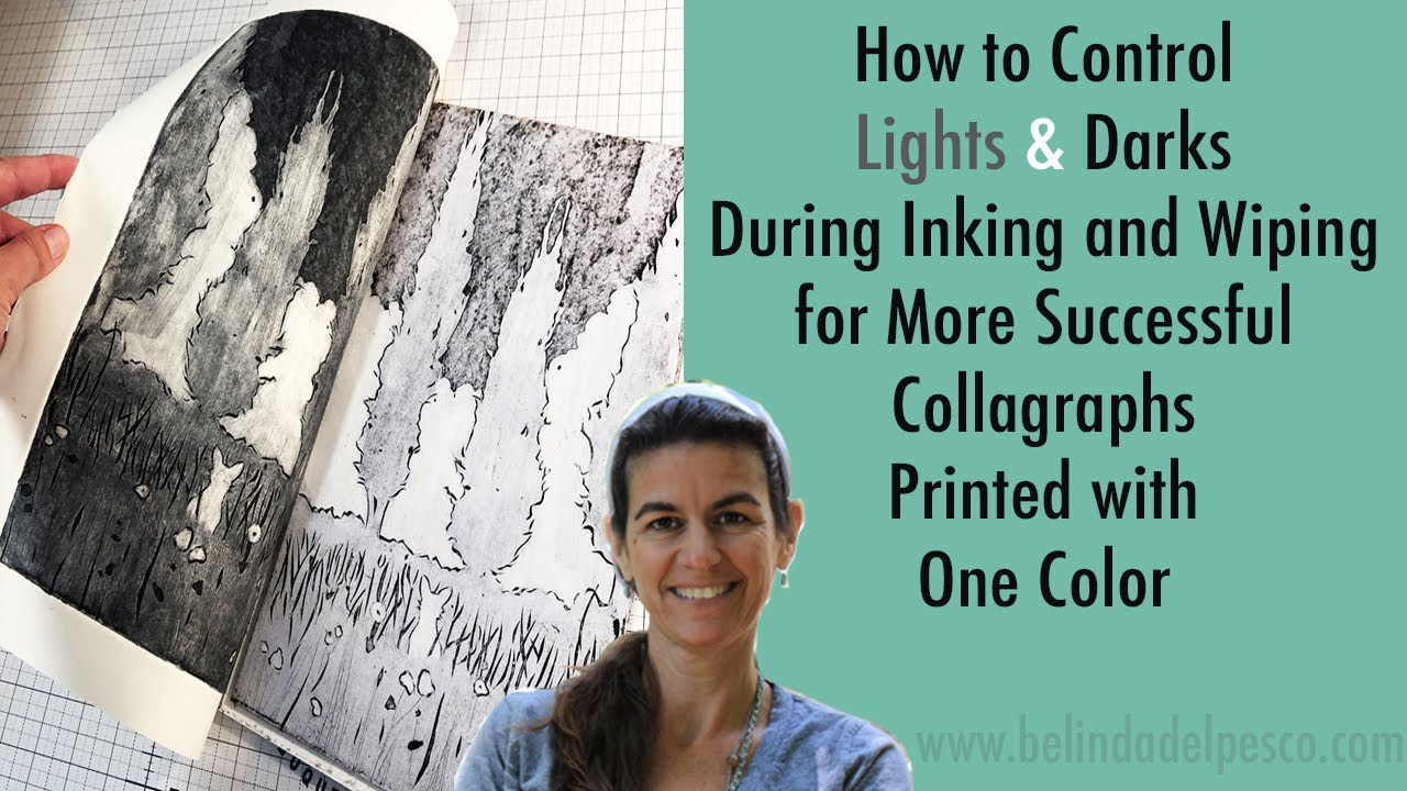 How to Ink a Collagraph Printmaking Plate Dynamically Using Just One Color