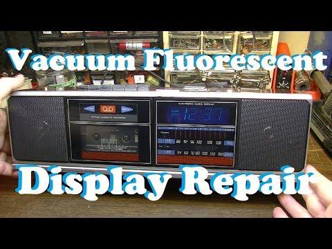 Vacuum Fluorescent Display Repair - 1986 Soundesign 3867 Clock Radio Cassette Tape Recorder