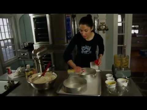 Gesine Bullock Prado makes The Helga Cake.