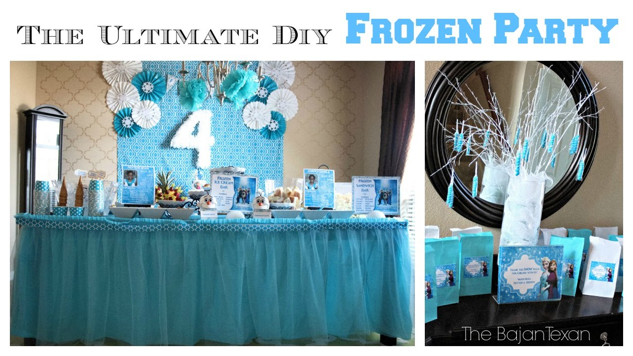 The Ultimate DIY Frozen Party YouTube
