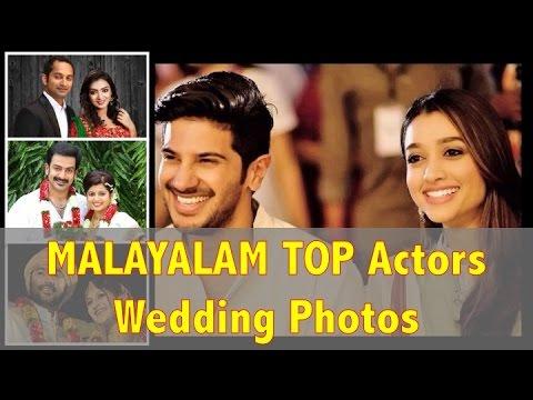 Top Malayalam Actors Actresses Rare Wedding Photos You