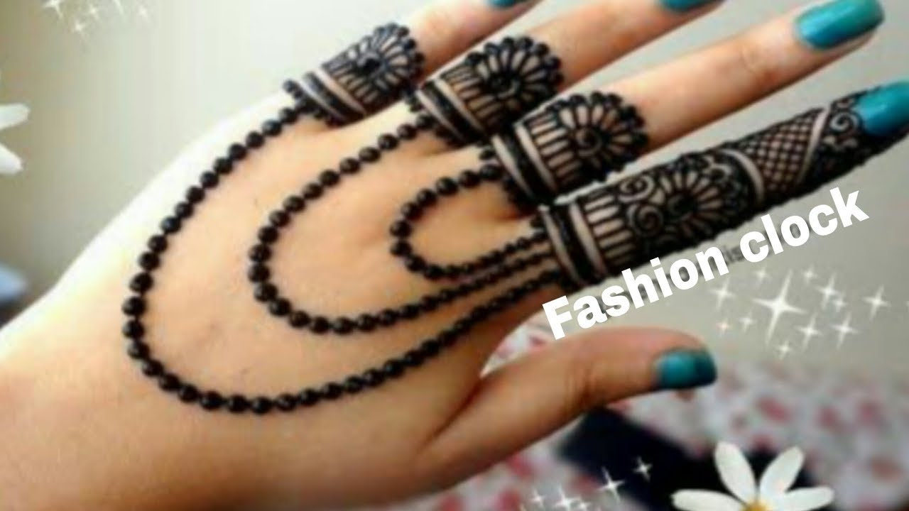 Beautiful Jewellery Mehndi Design Easy Stylish Jewellery Mehndi Design For Back Hand Mehndi Youtube