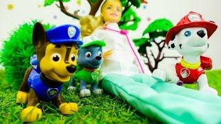 Щенячий Патруль - Мультик про игрушки - Барби лечит Маршала