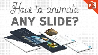 How To Animate Any PowerPoint Slide? | PowerPoint Animation Tutorial