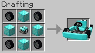 Minecraft but you can craft a CAR out of any block...