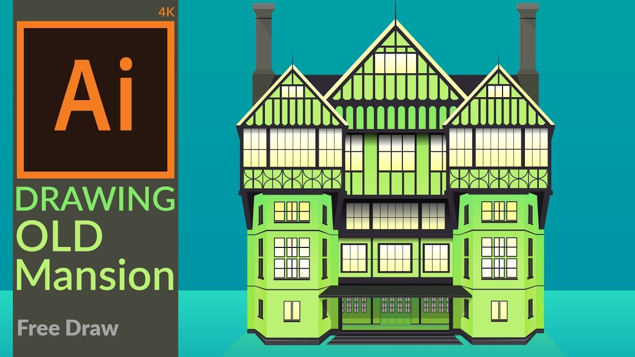 Drawing A Green Mansion Semi Flat Design