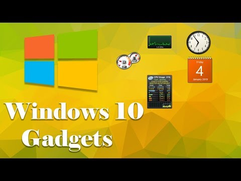 How To Enable Desktop Gadgets For Windows 10, 8
