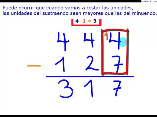 ⏩La Resta - Matemáticas Segundo Primaria (7 años) | AulaFacil.com ...