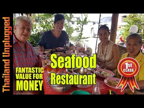 Thai Father's Day seafood restaurant Chon Buri Thailand
