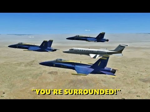 Intercepting Random AIRLINERS in Flight Simulator X (Multiplayer Trolling)