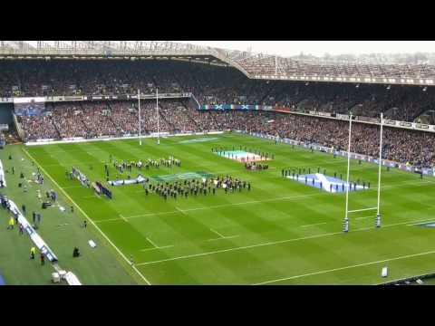 National Anthems at Murrayfield Stadium (Scotland v. Italy)