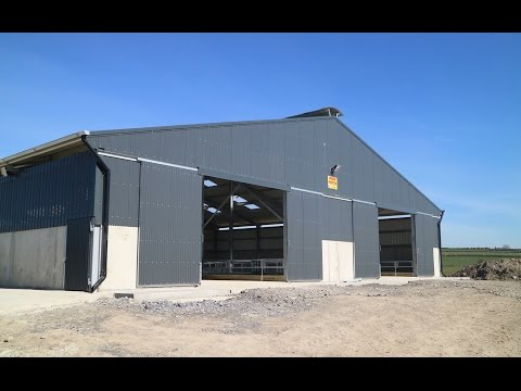 Farm buildings - a state of the art slatted sheep shed in Co Roscommon
