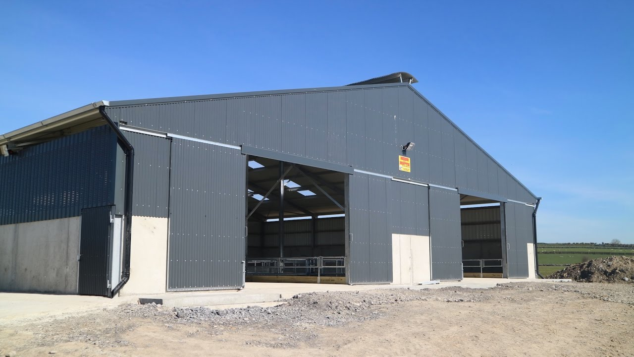 Farm Buildings A State Of The Art Slatted Sheep Shed In
