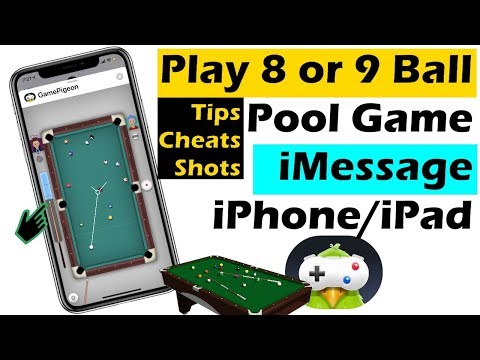 How to Play 8 Ball Pool Game in iMessage in iOS 12, Cheats, Shots