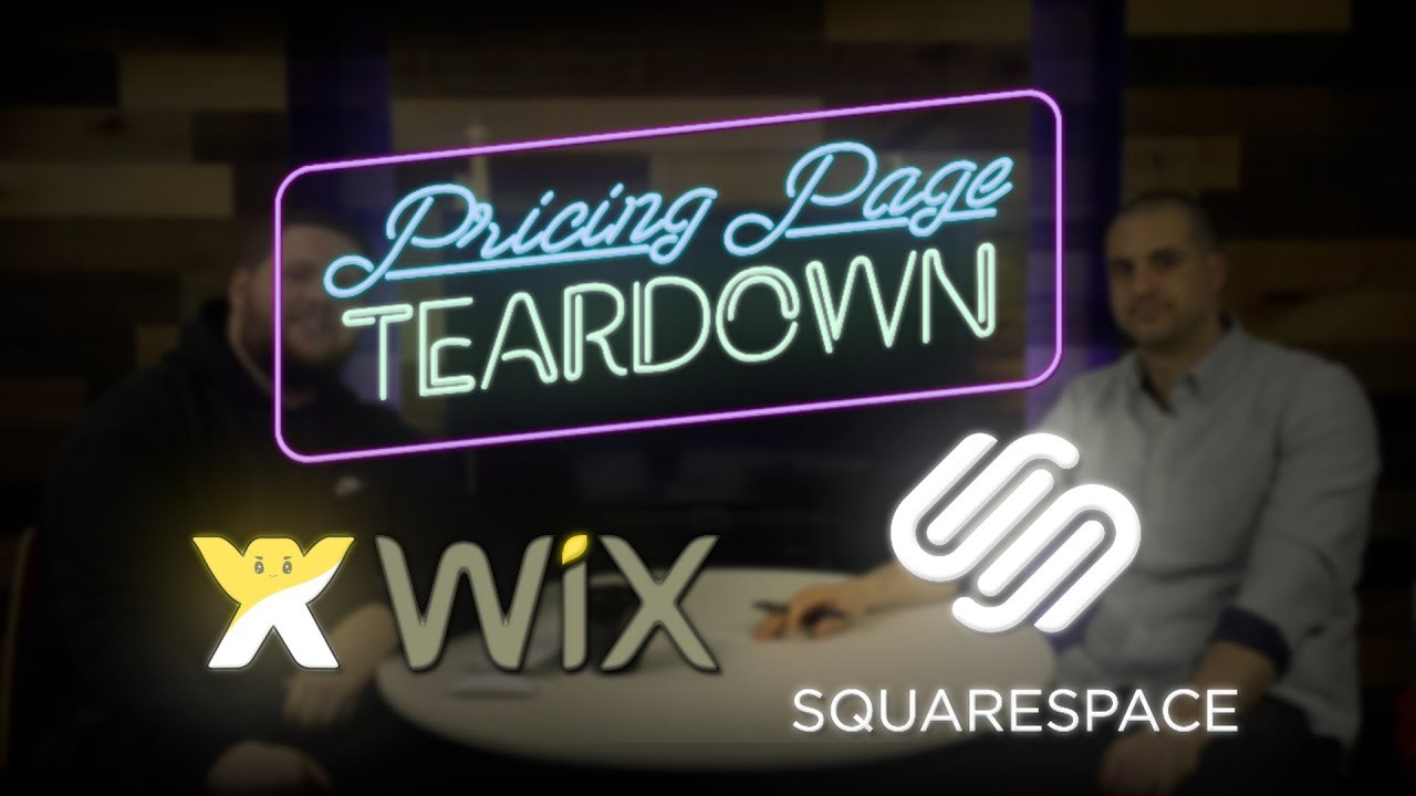 Wix vs Squarespace | Pricing Page Teardown