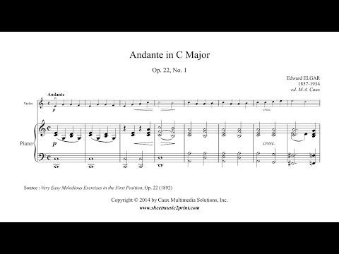 Elgar : Andante in C Major, Op. 22, No. 1 - Violin