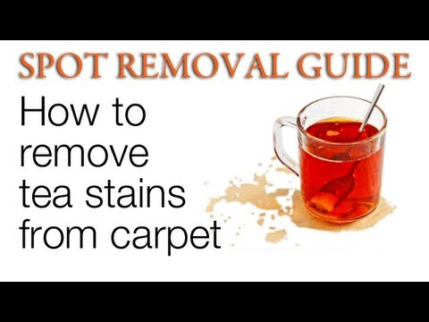 How To Remove Tea Stains From Carpet Spot Removal Guide