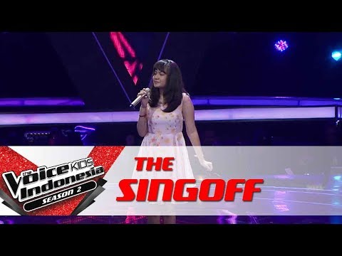 Sharen Trouble Is A Friend  Sing Off  The Voice Kids Indonesia Season 2 GTV 2017