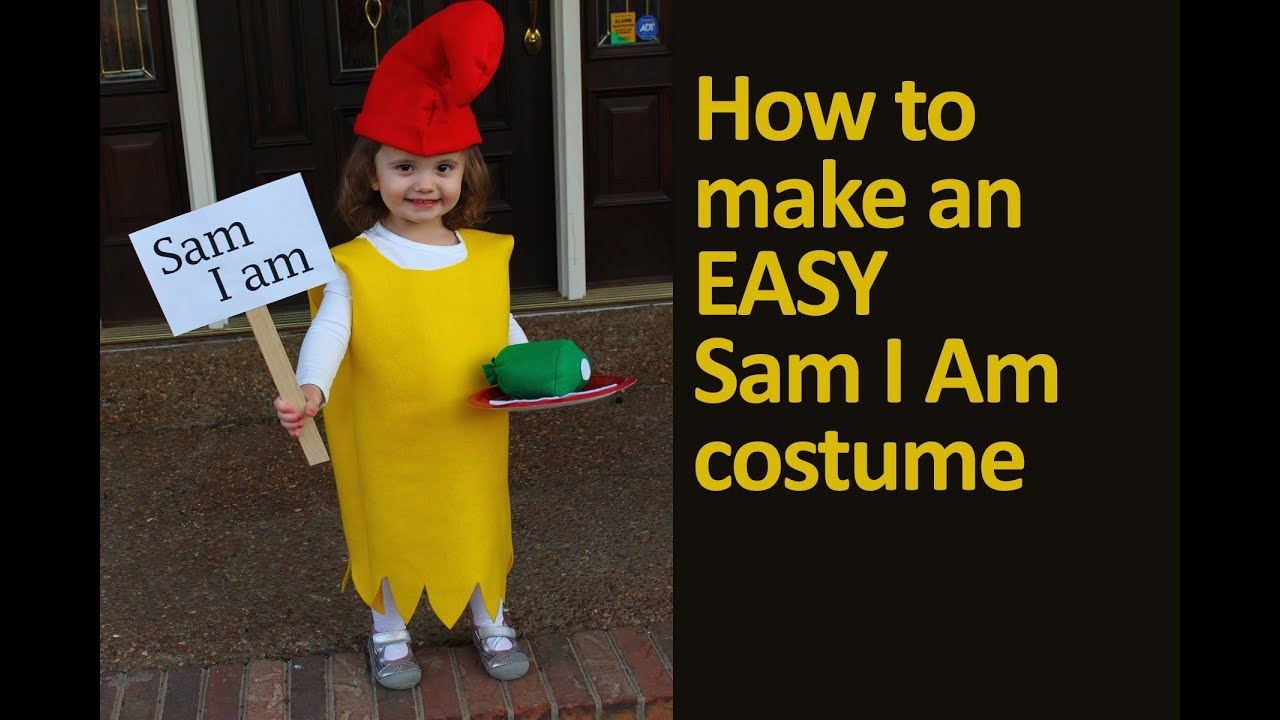 sc 1 st  YouTube & How to Make an Easy Dr. Seuss Sam I Am Costume - YouTube