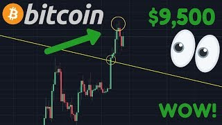 OMG!! BITCOIN BREAKING TO $9,500!!!? | Altcoins PUMPING! Altcoin Season?