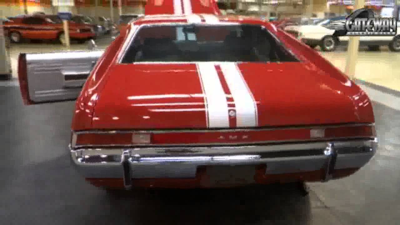 1969 amc amx for sale at gateway classic cars in st louis mo youtube. Black Bedroom Furniture Sets. Home Design Ideas