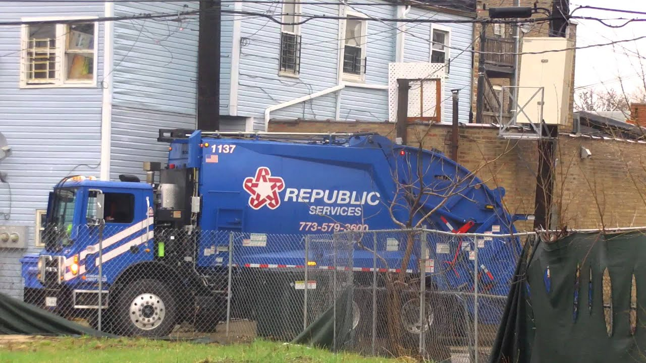 Republic Services Garbage Truck Youtube