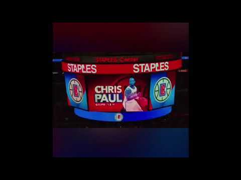 Chris Paul LA Clippers tribute video first game back since trade to Rockets