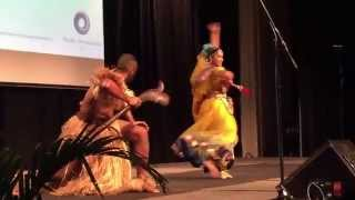 Fijian Tourism Expo 2015 - Opening ceremony Indian versus Fijian dance!