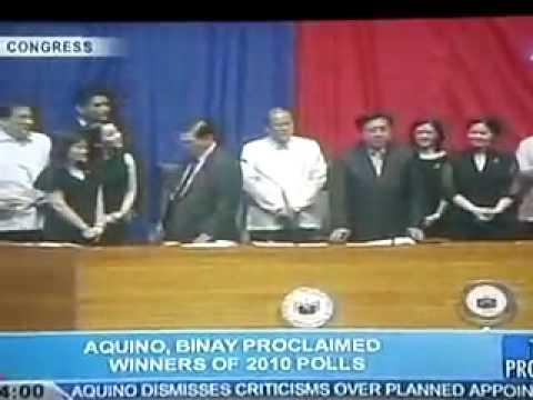 Noynoy Aquino 2010 Presidential Proclamation
